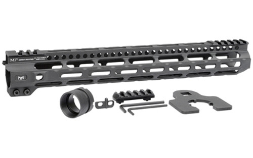"Midwest Combat Rail Light Weight M-Lok Handguard, Fits AR Rifles, 14"" Free Float Handguard, Wrench And Mounting Hardwareluded, 5-Slot Polymer M-Lok Railluded, Black"