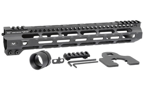 """Midwest Light Weight M-Lok Handguard, Fits AR Rifles, 12.625"""" Free Float Handguard, Wrench And Mounting Hardwareluded, 5-Slot Polymer M-Lok Railluded, Black"""