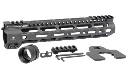 "Midwest Combat Rail Light Weight M-Lok Handguard, Fits AR Rifles, 10.5"" Free Float Handguard, Wrench And Mounting Hardwareluded, 5-Slot Polymer M-Lok Railluded, Black"
