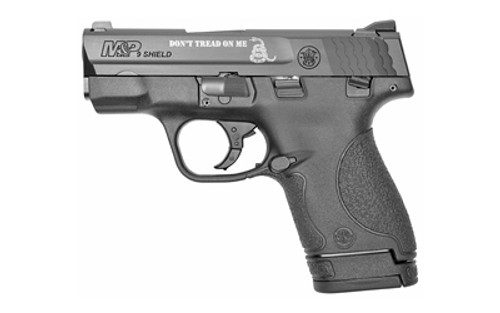 """Smith & Wesson M&P Shield Compact, """"Don't Tread On Me"""" Engraved 9mm, 3"""" Barrel, 7rd Mags"""