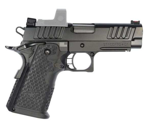 """Staccato C2 TAC DUO Carry 9mm, 3.9"""" Bull Barrel, Carry DUO Sights, DLC, 16/17rd"""