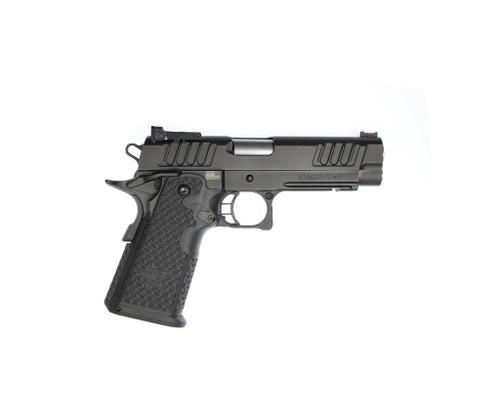 "STI Staccato P 9mm, 4.4"" Bull Barrel, Fiber/Adj. Tactical Sights, DLC, 17/20rd"