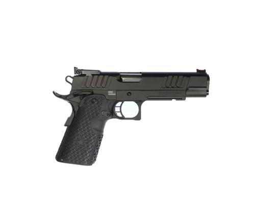 "STI Staccato R 9mm, 5"" Bushing Barrel, Fiber/Adj. Sights, Black DLC, 3x 10rd"