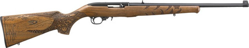 "Ruger 10/22 Great White Shark, 18.5"" Barrel, Engraved French Walnut Stock, Blued Finish"