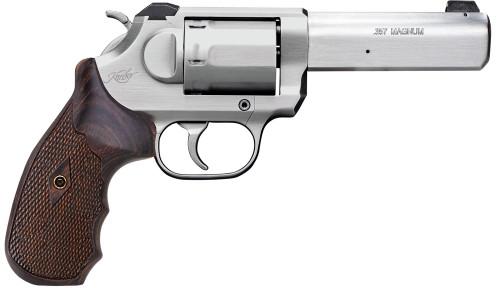 """Kimber K6s Combat Revolver .357 Mag, 4"""" Barrel, White 3-Dot Sight, Stainless, 6rd"""