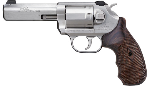 "Kimber K6s Combat Revolver .357 Mag, 4"" Barrel, White 3-Dot Sight, Stainless, 6rd"