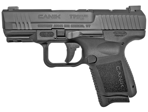 "Canik TP9 Elite SC Blackout Edition 9mm, 3.6"" Barrel, Polymer, Black, Micro Red-Dot Base, Holster, Back Straps, 2x12rd"
