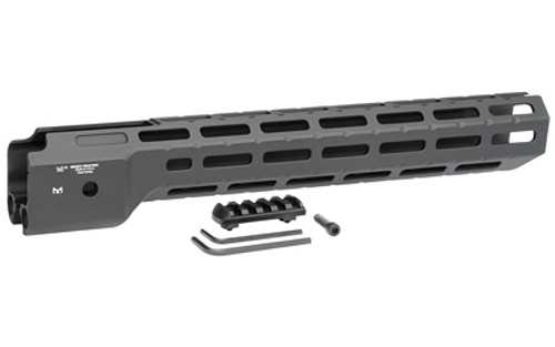 """Midwest Ruger PC9 Carbine Handguard, 14"""" Length, M-Lok, Black, Not Compatible With Fiber Optic Front Sight"""