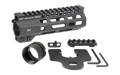 "Midwest Combat Rail, Handguard, 6"" Length, M-Lok, Black Anodized Finish,ludes 5-Slot Polymer Rail Section, Barrel Nut And Wrench"