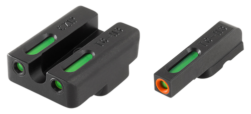 Truglo Brite-Site TFX Pro Day/Night Sights CZ 75 Tritium/Fiber Optic Green Orange Outline Front U-Notch Green Rear Black