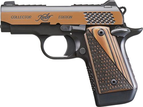 "Kimber Micro 9 Raptor 9mm, 3"" Barrel, KimPro Black/Tru-Tan, Black/Tan Grips, 7rd"
