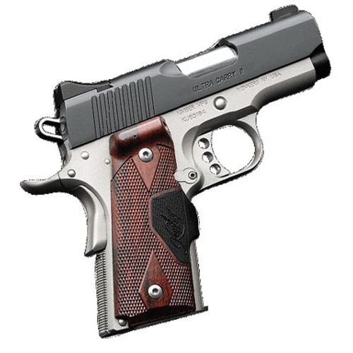 """Kimber Ultra Carry II .45 ACP, 3"""" Barrel, Two-Tone, Rosewood Grips, Green Laser, 7rd"""