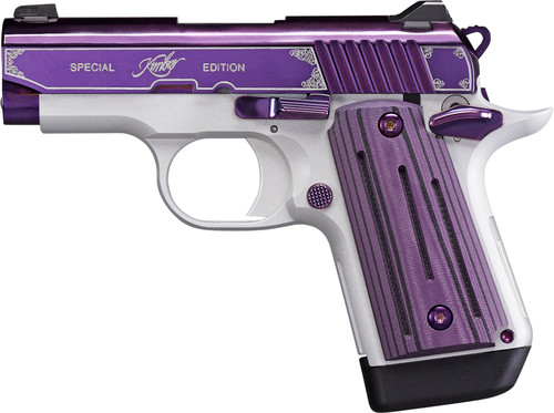 "Kimber Micro 9 Amethyst 9mm, 3"" Barrel, Purple PVD W/Engraving, Purple G10, 7rd"