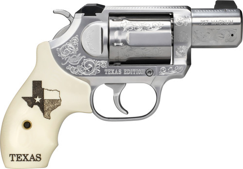 "Kimber K6s Texas Edition .357 Mag, 2"" SS Barrel, Ivory G10 Texas Motif Grips, 6rd"