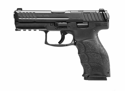 "HK VP9 Optics Ready 9mm, 4.09"" Barrel, Hi-Vis Front/Serrated Rear, Black, 2x17rd"