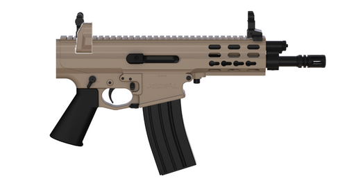 "Robinson Arms XCR-L Pistol 5.56/223 7"" Barrel M-Lok Rail, Flat Dark Earth No Brace"