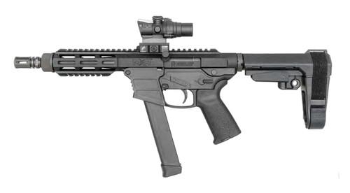 """FightLite MXR PCC, 9mm, 7"""" Barrel, M-Lok, Glock Mags, SBA3, Black"""