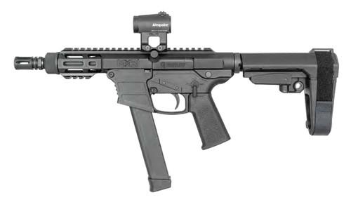 """FightLite MXR PCC 9mm, 5"""" Barrel, M-Lok, Glock Mags, SBA3, Black"""