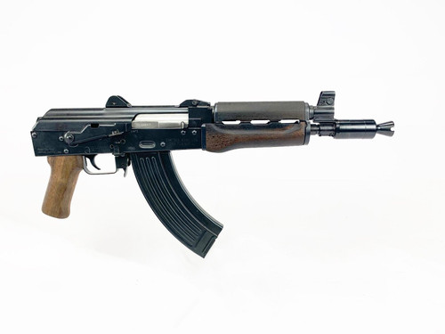"Zastava ZPAP92 Alpha AK-47 Pistol W/Booster 7.62 x 39 10"" Barrel Wood Hand Guard and Grip, 30rd Mag"