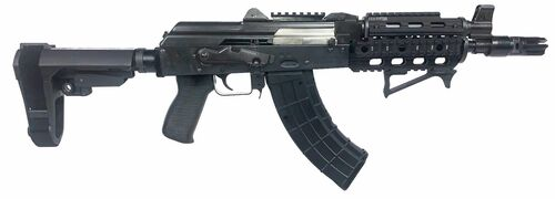 "Zastava ZPAP92 AK-47 Pistol  7.62 x 39 10"" Barrel W/Night Brake, Top Rail, SBA3 Brace, 30rd Mag"