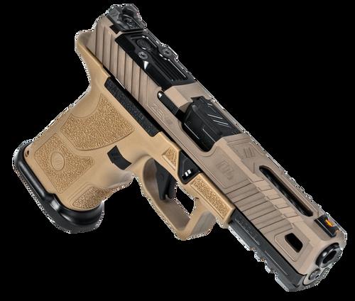 "ZEV Technologies O.Z-9 Compact Covert 9mm, 4.5"" Black Barrel, Steel Frame, Polymer Grip, Flat Dark Earth, 15rd"