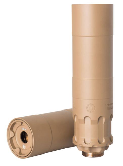 Rugged Suppressors Obsidian 9 with ADAPT Modular Technology, Pistol Suppressor, 9mm, Includes 1/2X28 Piston, Aluminium Tube, 17-4 PH Baffles, Flat Dark Earth Cerakote Finish