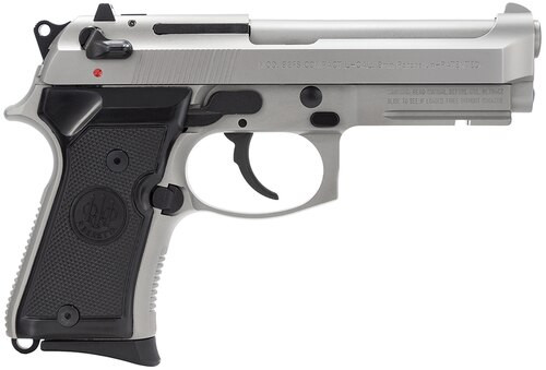 Beretta 92 Compact, Rail 9mm 4.25,  Black Synthetic Grip Inox SS,  10 rd