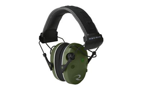 Radians R3400 Quad Mic, Electronic Earmuff, Military Green/Black