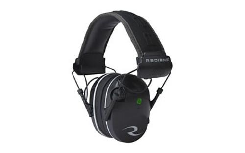 Radians R3200 Dual Mic, Electronic Earmuff, Black/Gray Finish