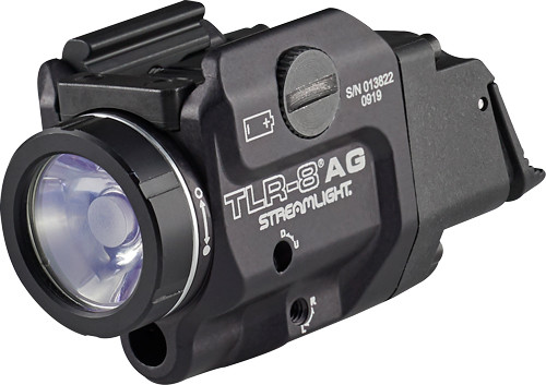 Streamlight TLR-8A G Flex, Black, 500 Lumens, 1.5 Hour Runtime, Green Laser, Comes with High and Low Switch and (1) CR123A Lithium Battery