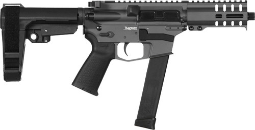 "CMMG Banshee 300 MKG 45 ACP 5"" Barrel, Sniper Gray, Black Magpul MOE Grip, 6 Position RipBrace, 26rd"