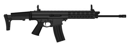 "Robinson Arms XCR-L Standard Rifle 5.56 16"" Light Barrel Keymod Rail, Black Finish, 30rd Mag"