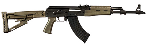 "Zastava ZPAPM70 7.62x39, Stamped Receiver, 16"" Barrel, OD Green, 30rd"