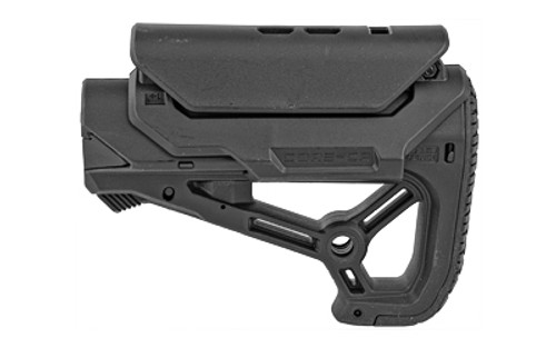 FAB Defense AR-15 Buttstock, Small and Compact Design, Cheek Rest Included, Fits Mil-Spec And Commercial Tubes, Black