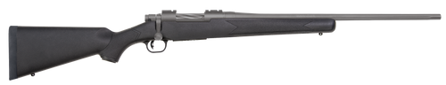 "Mossberg Patriot Synthetic 25-06 Rem, 22"" Barrel, Black Stock, Stainless Steel Cerakote, 5rd"