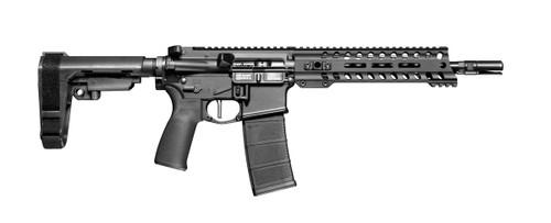 "Patriot Ordnance Factory Minuteman 5.56mm, 10.5"" Barrel, 9"" Renegade Rail, Carbine Length Low Pro DI Gas Block, Aluminum Frame, Anodized Black, 30 Rounds"