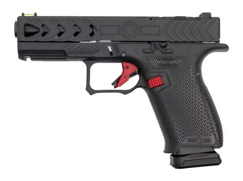 *D*POF P19 Gentlemens Series Gen4 9mm Pistol, Glock 19 Compatible Slide, Custom Frame, Black