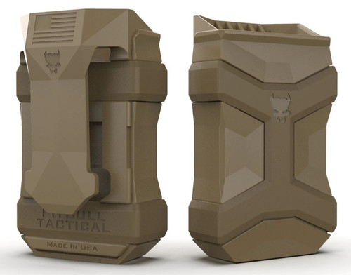 Pitbull Tactical Universal Mag Carrier Gen2, 9mm to .45 ACP, Flat Dark Earth