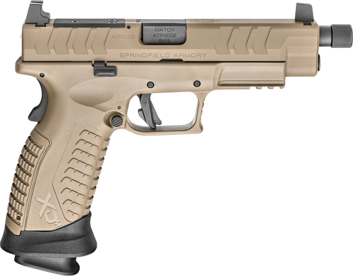 "Springfield XDM Elite OSP 9mm, 4.5"" Threaded Barrel, Suppressor Sights, Flat Dark Earth, 2x 22rd"