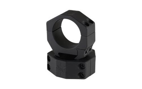 "Seekins Precision Scope Ring .92"" Low, 34mm, 4 Cap Screw, Black"