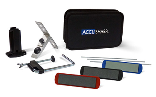 AccuSharp Knife Sharpener, 3 Stone Precision Sharpening Kit