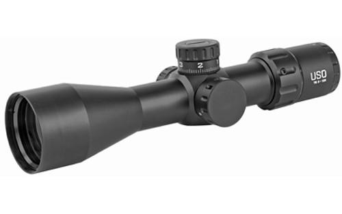 US Optics TS Series 3-12X44mm, 30mm Main Tube, Front Focal Plane, 1/10 Mil Adjustments, Black, MIL Hunting Reticle (MHR)