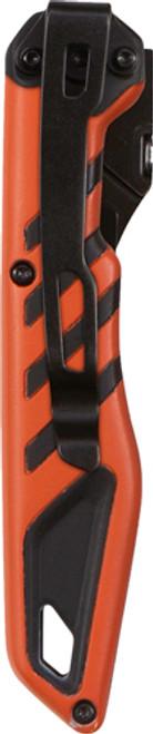 """Allen Mossy Oak Gamekeeper Switchback 5.50"""" 60A Stainless Steel Drop Point Black/Orange Handle Folding"""