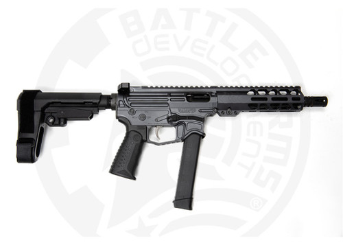 "Battle Arms Development Xiphos 9P 9mm, 8"" Barrel, SBA3 Brace, Battle Arms Grey, 33rd"