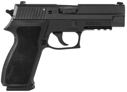 Sig P220 45ACP 4.4 Alloy Frame Stainless Steel Slide Black Nitron finish Contrast Sights Tac Rail
