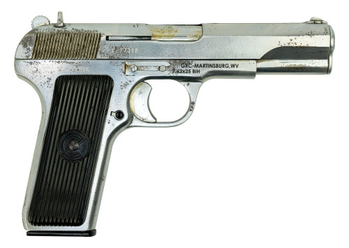 "Zastava M57 Tokarev Pistol Used-Refurbished 7.62x25mm 4.5"" Barrel, Blued, 9rd Mag"
