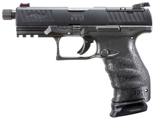 "Walther PPQ M2 Q4 Tactical 9mm, 5"" Threaded Barrel, Black, 15rd"