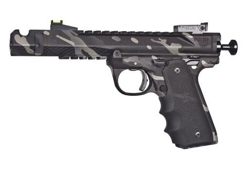 "Volquartsen Black Mamba 22 LR, 4.5"" Barrel, Hi-Viz Front & Target Rear, Black Camo"