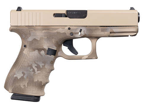 "Glock 19 Gen 4 9mm, Apollo Custom, 4"" Barrel, Desert Multicam, 3x 15rd"