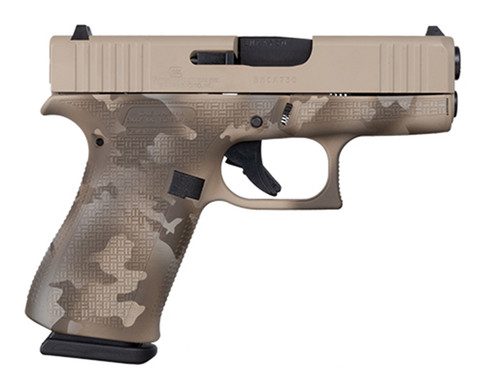 "Glock 43x Sub Compact 9mm, Apollo Custom, 3.4"" Barrel, Desert Multicam, 2x 10rd"